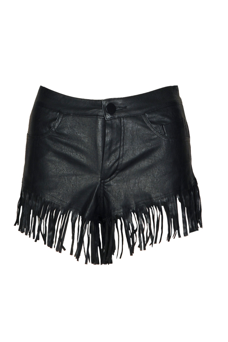 Dolly PU Tassel Hotpants $50